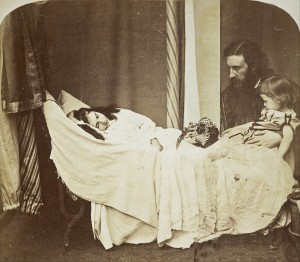 George MacDonald with son Ronald (right) and daughter Mary (left) in 1864. Photograph by Lewis Carroll.
